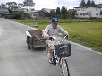 電動自転車とリヤカー