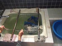 風呂場で温湯消毒