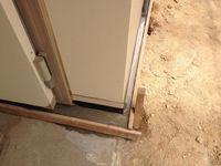 保冷庫の基礎固め2