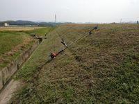 巨大斜面の草刈り